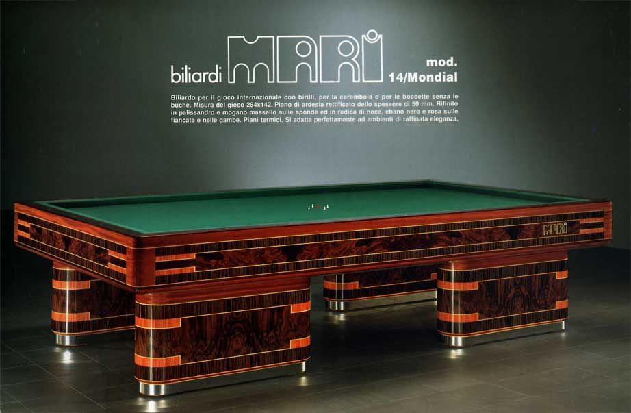 Biliardo mondial mari 14 - Tavolo da biliardo mari ...
